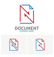 set logo document sheets paper with arrows vector image