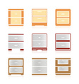 Set of color nightstand vector image vector image