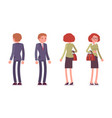 set of male and female office workers standing vector image vector image