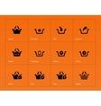 Shopping Basket icons on orange background vector image vector image