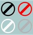 sign prohibiton interdiction ban vector image vector image