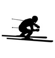 skier athlete downhill vector image vector image