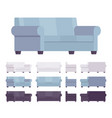 sofa interior set vector image vector image