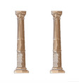 Stylized greek doodle column doric ionic vector image