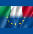 symbol italy is eu member vector image