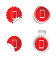 telephone sticker red vector image