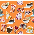 Thailand flat collage vector image vector image