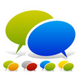 two overlapping speech talk bubbles in more color vector image