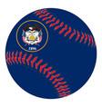 utah flag baseball vector image vector image