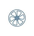 wind turbine logo design template vector image vector image