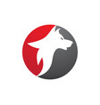 wolf logo template icon vector image vector image