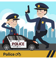 characters police flat design vector image