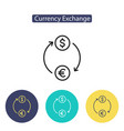 currency exchange sign vector image
