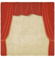 red curtain old background vector image