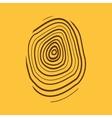 The fingerprint icon Fingerprint symbol Flat vector image