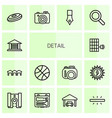 14 detail icons vector image vector image