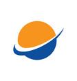 abstract globe arrow business logo vector image vector image