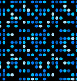 Abstract seamless pattern Blue dots over black vector image vector image