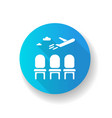 airport lounge blue flat design long shadow glyph vector image