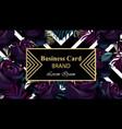 black roses luxury card beautiful vector image