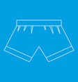 boxer briefs icon outline style vector image vector image