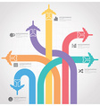 Business Journey With Global Airline Infographic vector image