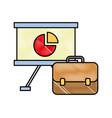 business office board presentation briefcase vector image vector image