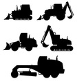 car equipment for construction work 02 vector image vector image