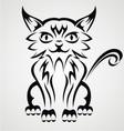 Cat Tattoo Design vector image vector image