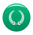 champion wreath icon green vector image vector image