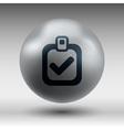 checkmark icon test form mark tick check vector image