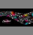 christmas and new year glow gradient decoration vector image
