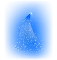 Christmas blue tree with stars vector image vector image
