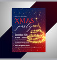 christmas sparkles flyer design template vector image vector image