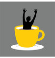 Coffee Cup Hand Up vector image vector image