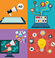 collection flat and colorful business marketing vector image vector image