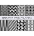 collection pixel seamless patterns vector image vector image