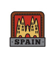 country badge collections spain symbol of big vector image vector image