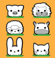 Cute little Animal Set vector image vector image