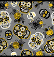 dia de los muertos day of the dead seamless vector image