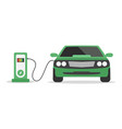 electric car concept charging station on white vector image