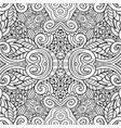 ethnic hand drawn line art seamless pattern vector image