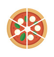 four cheeses pizza icon flat style vector image vector image