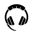 gaming headset glyph icon vector image