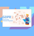 gdpr concept general data protection regulation vector image vector image