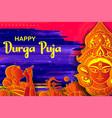 goddess durga in happy dussehra navratri vector image vector image