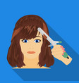 hair single icon in flat stylehair symbol vector image