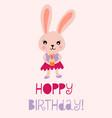 happy birthday bunny cute vector image