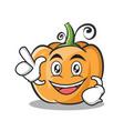 have an idea pumpkin character cartoon style vector image