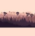 horizontal coniferous twilight forest vector image vector image